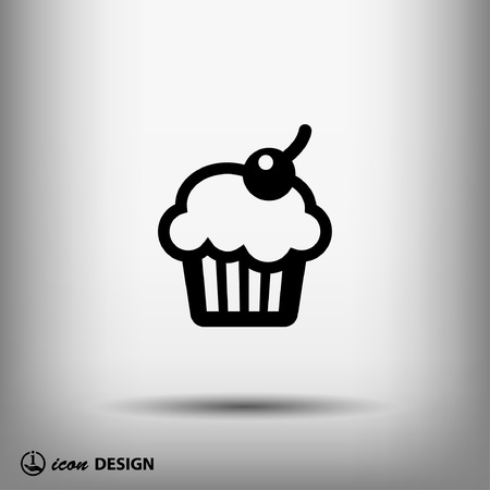 cupcakes isolated: Pictograph of cake Illustration