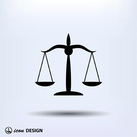 justiz: Piktogramm der Gerechtigkeit Waage Illustration
