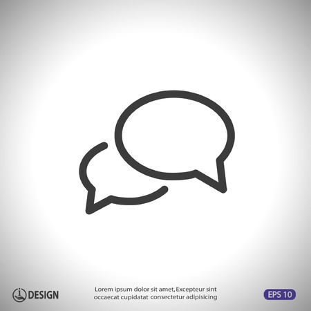 talking bubble: Pictograph of message or chat