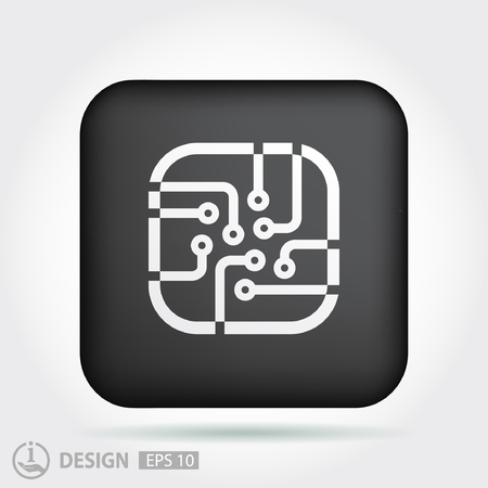 pictograph: Pictograph of circuit board