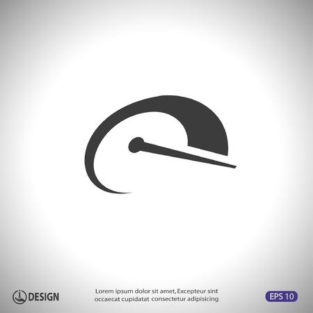 compteur de vitesse: Pictogramme de vitesse Illustration