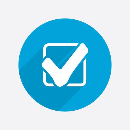 verify: Pictograph of check mark