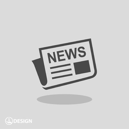 Nieuws-pictogram  Stock Illustratie