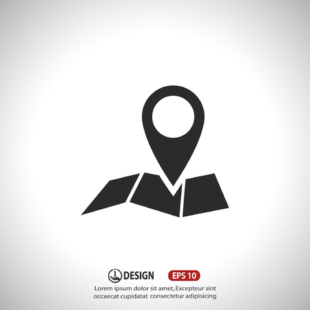 pin icon: Pin on the map. Vector icon