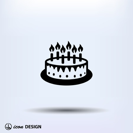 birthday celebration: Pictograph of cake Illustration