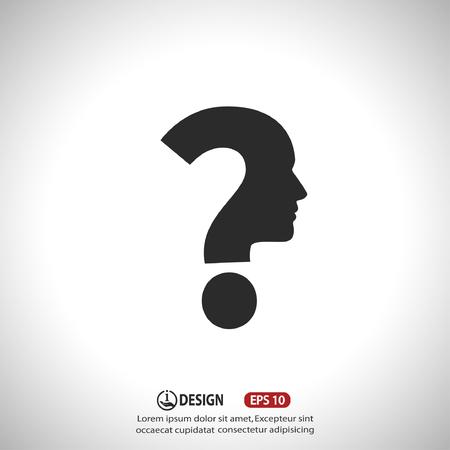 signo de interrogación: Pictograma del signo de interrogación y el hombre
