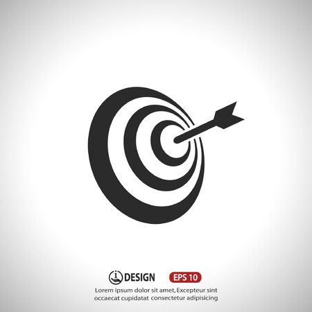 target: Pictograph of target Illustration