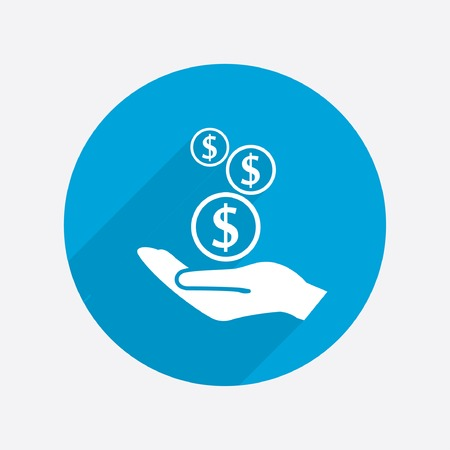 Pictograph of money in hand Stock Vector - 47249988