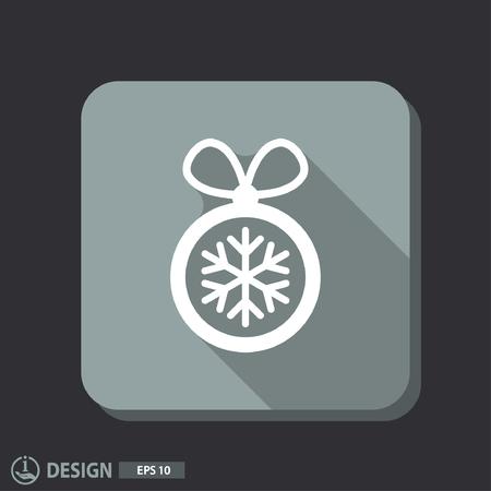 크리스마스 공: Pictograph of christmas ball