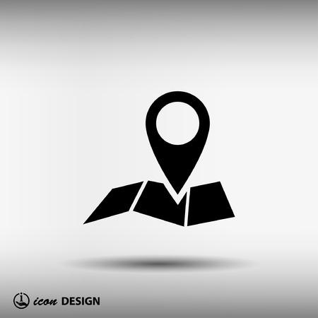 Pin sur la carte. Vector icon Illustration