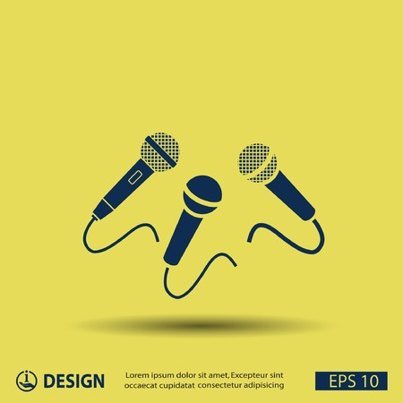 microphone: Microphone icon Illustration