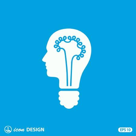 hombres ejecutivos: Pictograma del bulbo concepto Vectores