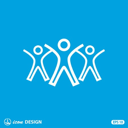 community: Pictograph of success team