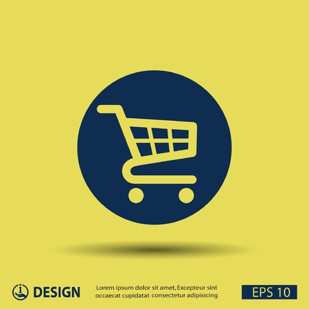 merchant: Pictograph of shopping cart Illustration