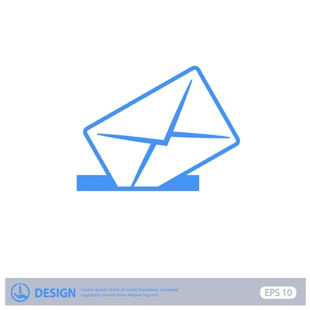 post mail: Pictograph of mail Illustration