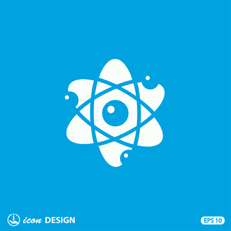 research icon: Pictograph of atom
