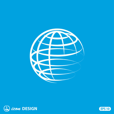 travel icons: Pictograph of globe Illustration