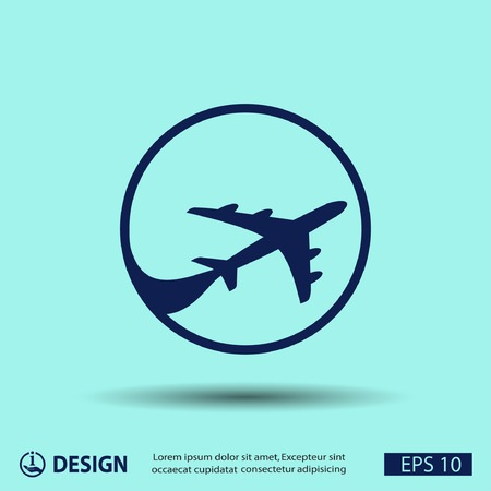 airplane engine: Pictograph of airplane