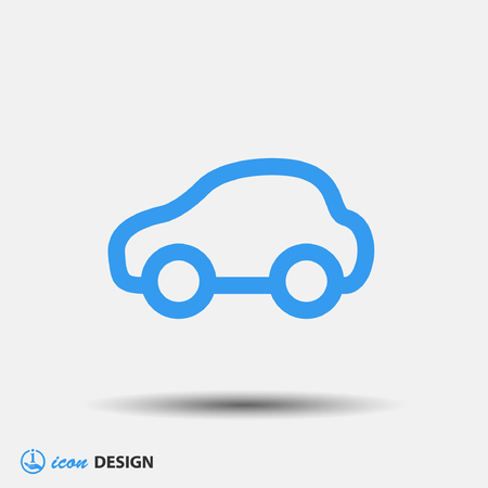 car vector: Pictograph of car