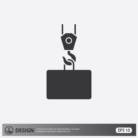 construction icons: Pictograph of crane hook