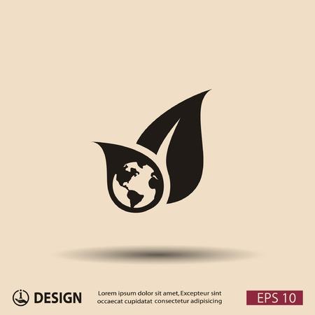 eco friendly icon: Pictograph of eco