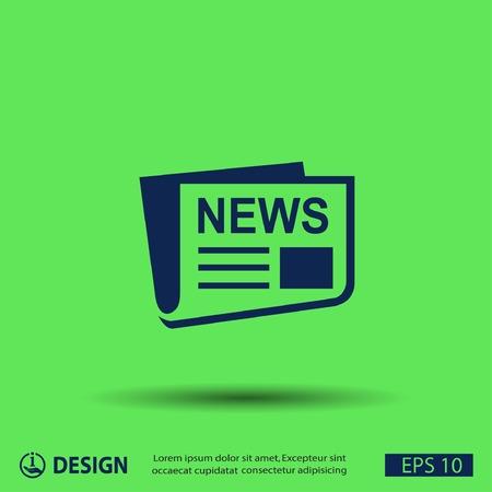newspaper headline: News icon