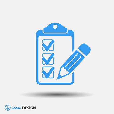 pictograph: Pictograph of checklist Illustration