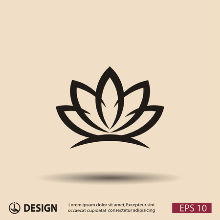 abstract flower: Pictograph of lotus