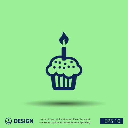 candle: Pictograph of cake Illustration