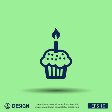 candela: Pittogramma di torta Vettoriali
