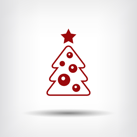 star ornament: Pictograph of christmas tree