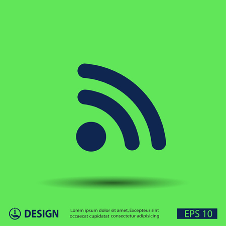 rss: Pictograph of RSS