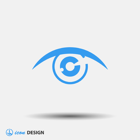 vision: Pictograph of eye Illustration