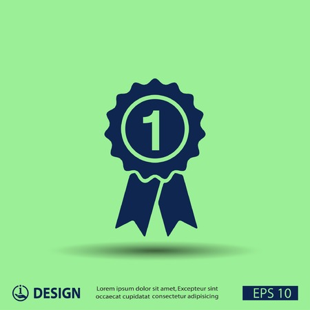 number one: Pictograph of award