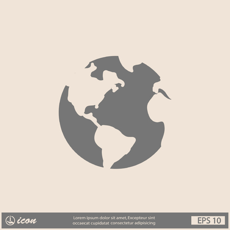 global network: Pictograph of globe Illustration