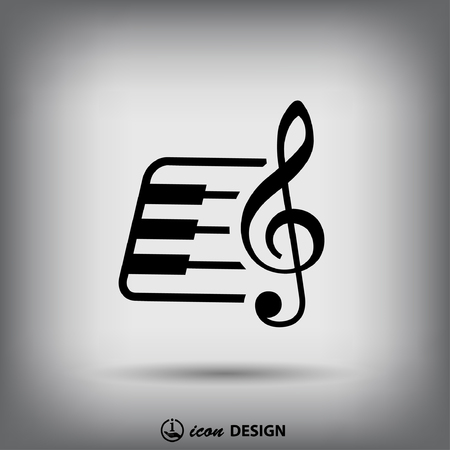 keyboard instrument: Pictograph of music key and keyboard