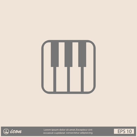pictograph: Pictograph of music keyboard Vettoriali