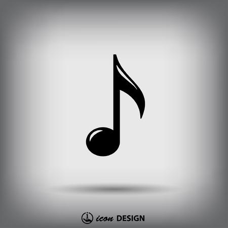 음악 노트의 상형 문자 일러스트