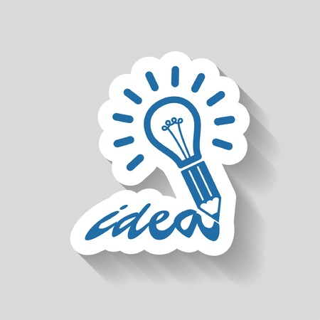 idea: Pictograph of light bulb idea Illustration
