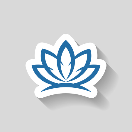 flower petal: Pictograph of lotus