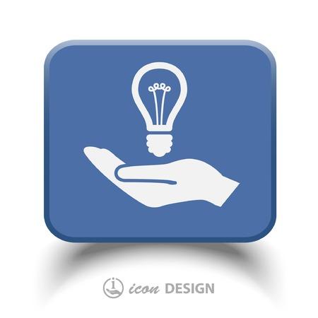 energysaving: Pictograph of light bulb