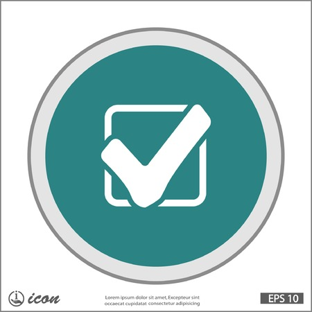 check box: Pictograph of check mark