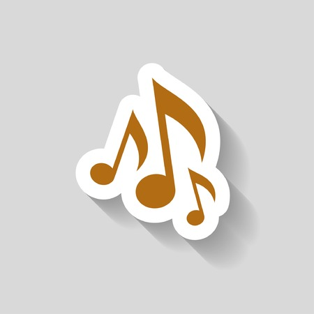 pictograph: Pictograph of music note Vettoriali