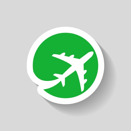 air travel: Pictograph of airplane