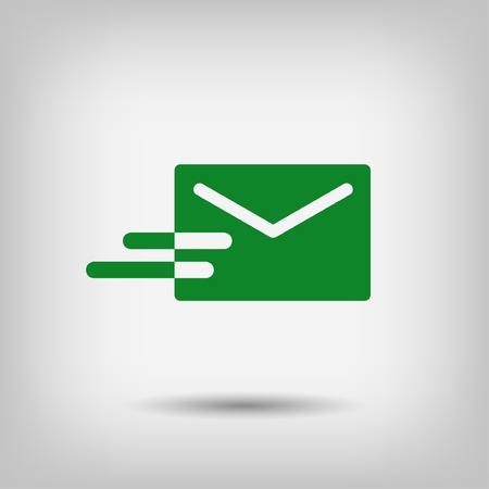 communication icon: Pictograph of mail Illustration
