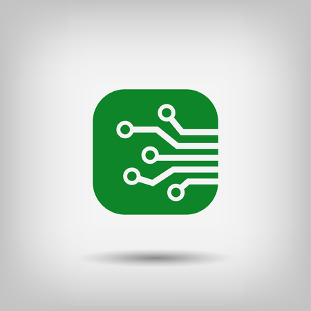 circuitboard: Pictograph of circuit board