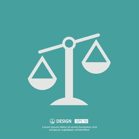 gerechtigkeit: Piktogramm der Gerechtigkeit Waage Illustration