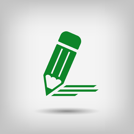 pen icon: Pictograph of note