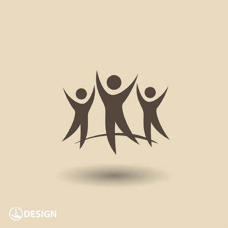 pictogram people: Pictograph of success team