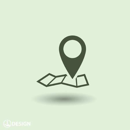 map pin: Pin on the map icon